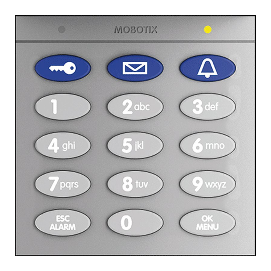 Mobotix Keypad With RFID Technology For T26, Silver